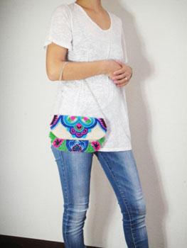 刺繍&ビーズクラッチバック インド刺繍 RM-628