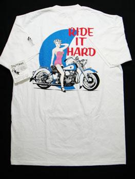 """【あす楽】【新品】90'S LIFE'S A BEACH """"RIDE IT HARD""""Tシャツ ☆サイズ:XL☆ RM-585"""