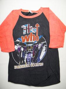 """【送料無料】【中古】ヴィンテージ 82'S THE WHO """"FAREWELL TOUR-Tシャツ ☆サイズ:M☆ RM-589"""