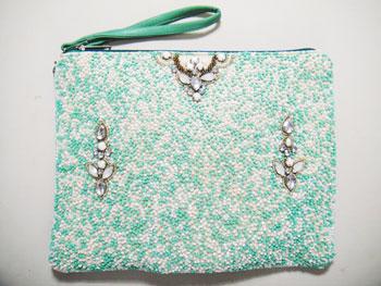 刺繍&ビーズクラッチバック インド刺繍RM-630