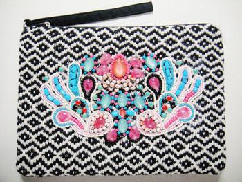 刺繍&ビーズクラッチバック インド刺繍RM-631