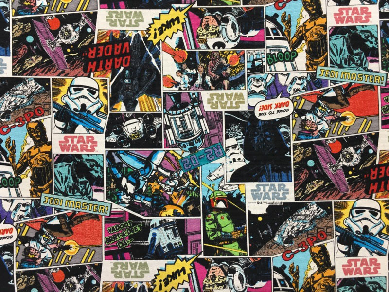 Fabrics40 ☆ 40 Cm Continues Cutting ☆ Star Wars Comics Pattern Fascinating Star Wars Pattern