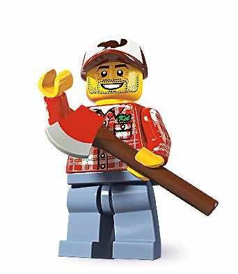 当店のレゴ ミニフィギュアは 毎日激安特売で 営業中です 全品送料無料 レゴ 8805 LEGO シリーズ5 木こり 在庫一掃 ミニフィギュア