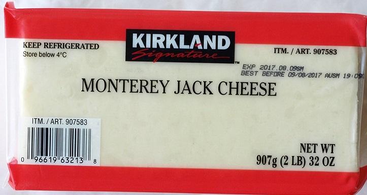 モントレージャックチーズのパッケージ