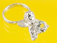 心から誕生を祝福する天使の指輪 エンジェルベビーリング 日本未発売 アクアマリン 出産記念 マート 誕生祝い First 出産祝い Day Mother's