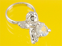 心から誕生を祝福する天使の指輪 エンジェルベビーリング ムーンストーン 出産記念 公式通販 誕生祝い Mother's 出産祝い 与え Day First