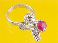 心から誕生を祝福する天使の指輪 エンジェルベビーリング ルビー 出産記念 売れ筋ランキング 誕生祝い 卓越 First Day Mother's 出産祝い