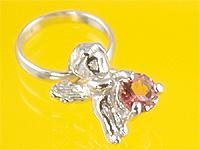 売買 心から誕生を祝福する天使の指輪 エンジェルベビーリング ピンクトルマリン 出産記念 誕生祝い Mother's First 高い素材 Day 出産祝い