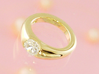ベビーリング 刻印できるプリモ K18イエローゴールド ダイヤモンド出産記念 誕生祝い 出産祝い First Mother's Day
