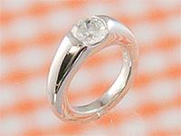 ベビーリング 刻印できるプリモ K18ホワイトゴールド ダイヤモンド出産記念 誕生祝い 出産祝い First Mother's Day