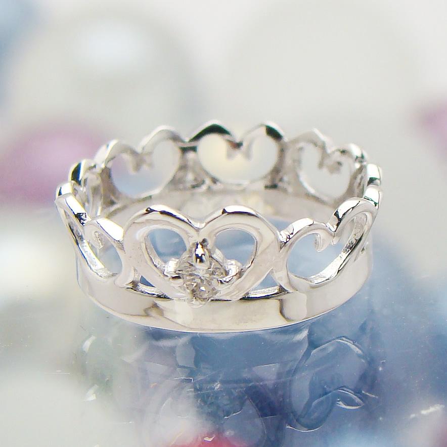 刻印できるちょっと大きめサイズのクイーンベビーリング/プラチナ900[ダイヤモンド(4月の誕生石/天然宝石)]出産記念 誕生祝い 出産祝い First Mother's Day