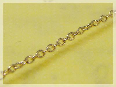 【送料無料】丸アズキネックレス:スライド調整式(長さ45cm:幅1.3mm)/イエローゴールドK10