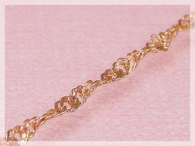 スクリューネックレス:スライド調整式(長さ45cm:幅1.1mm)/ピンクゴールドK10