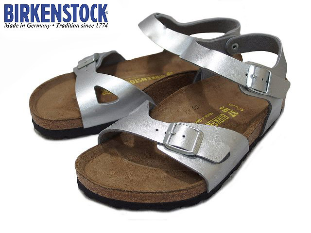 BIRKENSTOCK/birukenshutokku RIO/里约热内卢SILVER/银子031891 MENS&LADIES/人&女士宽度型号/NORMAL凉鞋
