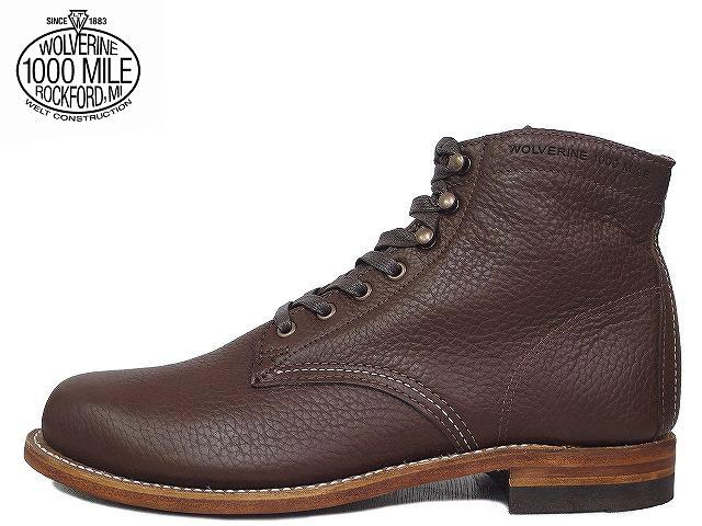 ウルヴァリン 1000マイルブーツ 送料無料 ウルバリン WOLVERINE CENTENNIAL 1000MILE BOOTS WO0913 100周年1000マイルブーツ ブラウン ホーウィン バイゾンレザー Made in USA【送料無料!】メンズ ブーツ men's boots