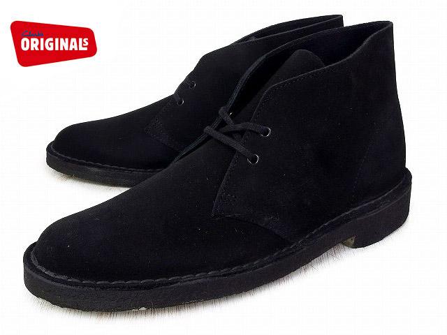 クラークス デザートブーツ ブラック CLARKS DESERT BOOT 26107882 BLACK SUEDE【送料無料!】【US規格】boots