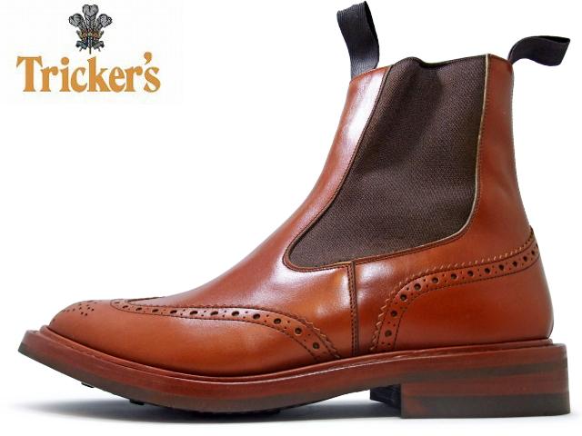 トリッカーズ サイドゴア Tricker's Tricker's / トリッカーズ SIDE GORE BOOTS / サイドゴアブーツ m2754 MARRON ANTIQUE / マロン アンティーク DAINITE SOLE / ダイナイトソール ウィングチップ