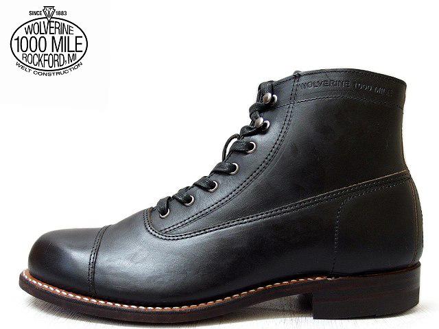 【期間限定】 ウルヴァリン 1000マイルブーツ ウルバリン WOLVERINE 1000MILE BOOTS WO5292 ロックフォード ブラック ホーウィン社製 クロムエクセルレザー Made in USAメンズ ブーツ men's boots, 専門店 中江 07e17672