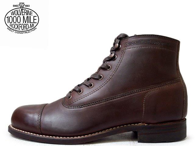 完璧 ウルヴァリン 1000マイルブーツ ウルバリン WOLVERINE 1000MILE BOOTS WO5293 ロックフォード ブラウン ホーウィン社製 クロムエクセルレザー Made in USAメンズ ブーツ men's boots, ソウヤグン b358c6ea