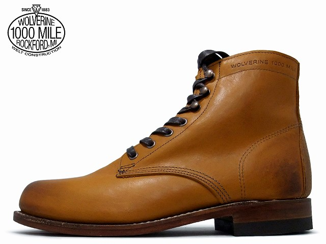 ウルヴァリン 1000マイルブーツ 送料無料 ウルバリン WOLVERINE 1000MILE BOOTS WO5848 タン ホーウィン社製 クロムエクセルレザー Made in USA【送料無料!】メンズ ブーツ men's boots