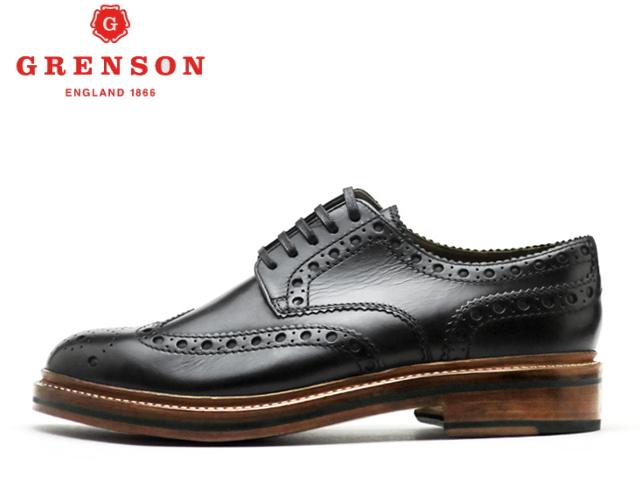 グレンソン 靴 GRENSON ARCHIE アーチー ウィングチップ 110004 黒メンズ ビジネス