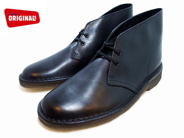 クラークス デザートブーツ レザー CLARKS DESERT BOOT 111443 BOOT BLACK LE ブラック レザー UK規格 メンズ ブーツ men's boots【送料無料!】