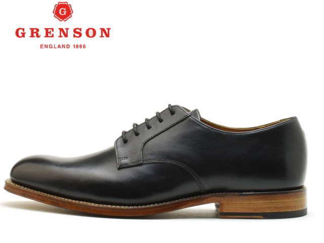 グレンソン 靴 GRENSON LIAM リアム プレーントゥ 112027 BLACK【送料無料!】メンズ ビジネス