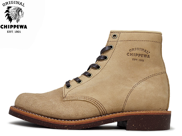 82359b518b492 Chippewa boots plain to service boots khaki suede CHIPPEWA 6 PLAIN TOE SERVICE  BOOTS 1901G27 KHAKI SUEDE mens mens boots