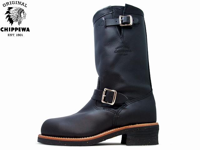 チペワ エンジニアブーツ CHIPPEWA ENGINEER BOOTS 11 インチ 1901M03 BLACK ブラック メンズ mens boots