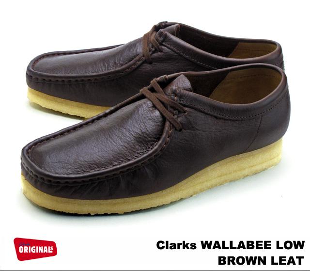 クラークス ワラビー メンズ ブラウンレザー CLARKS WALLABEE LO 26103697 BROWN LEATHER US規格 メンズ ブーツ men's boots