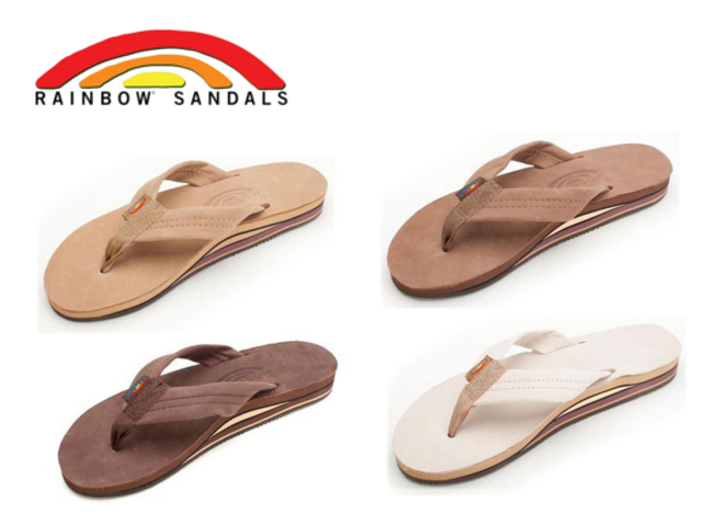 dc18632d0ab3 Face to Face  All five colors of rainbow sandals men double RAINBOW ...