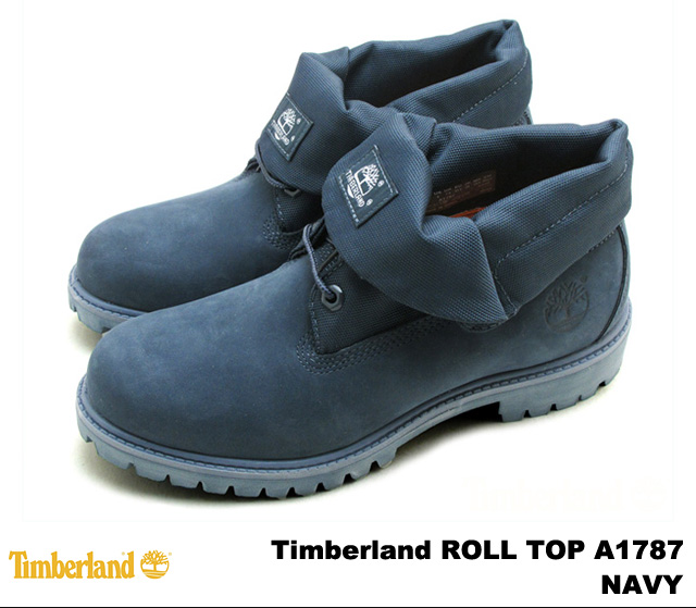 5285bbb253bf Timberland Timberland roll top Navy A1787 NAVY MONO PREMIUM WATER PROOF ROLL  TOP BOOT premium waterproof mens