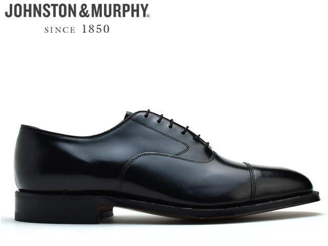 ジョンストン&マーフィー ストレートチップ JOHNSTON&MURPHY Melton Cap Toe ブラック 22-2981メンズ ビジネス ドレス