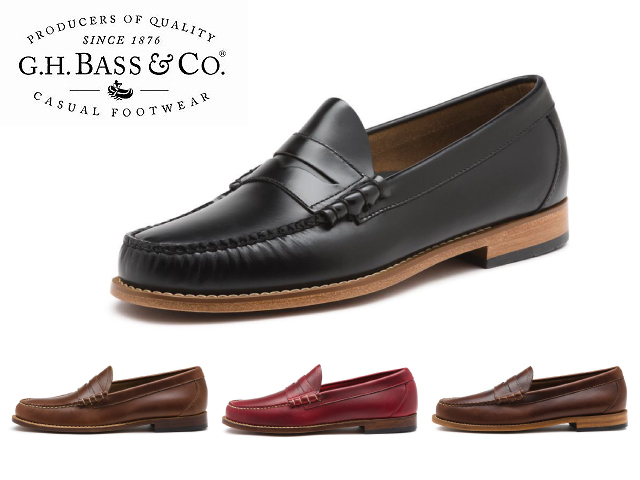 c782e5717ec Bus loafer Larson 2 G.H BASS LARSON 2 PENNY LOAFER PULL-UP LEATHER 4 color penny  penny loafers MENS men