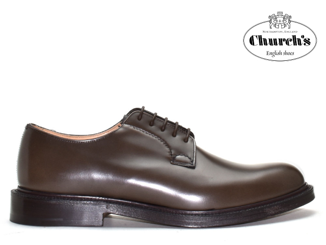 チャーチ シャノン 靴 Church's SHANNON プレーントゥ ブラウン REED【送料無料!】メンズ ビジネス