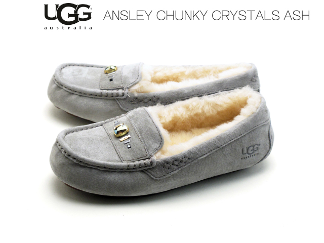 732124c6e0d All アグモカシンアンスレーチャンキークリスタルズアグスリッポン UGG MOCCASIN ANSLEY CHUNKY CRYSTALS  1007713 four-colored ...