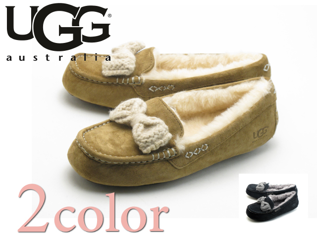 ugg moccasins with ribbon