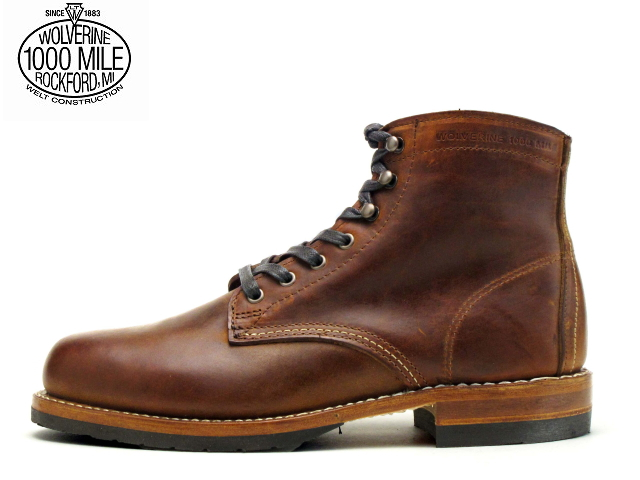 ad183a76854 Wolverene 1,000 miles boots [Wolverene WOLVERINE 1000MILE BOOTS EVANS  W40049 brown Made in USA men boots men's boots