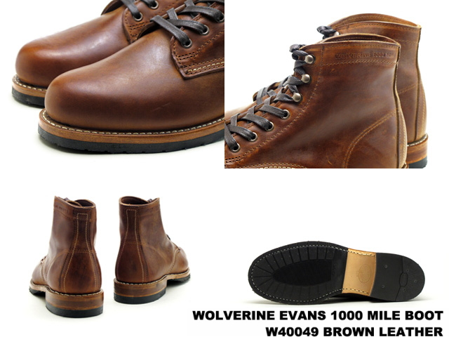 金刚狼狼獾 1000 英里靴埃文斯 W40049 布朗在取得美国男子的金刚狼 1,000 英里靴子靴子男式靴子