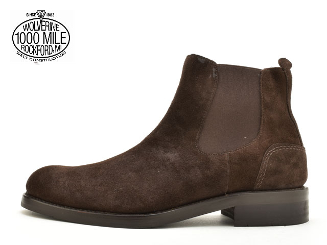 f9d52c95577 Wolverene 1,000 miles boots [Wolverene WOLVERINE 1000MILE CHELSEA BOOT  W40204 brown suede Made in USA men boots men's boots