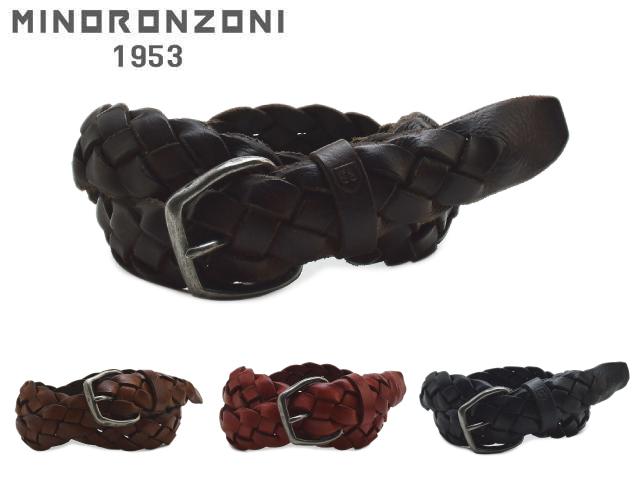 メンズ ベルト 革 ブランド カジュアル ビジネス ロング イタリア製 MINORONZONI ミノロンゾーニ MRS166C008【送料無料】