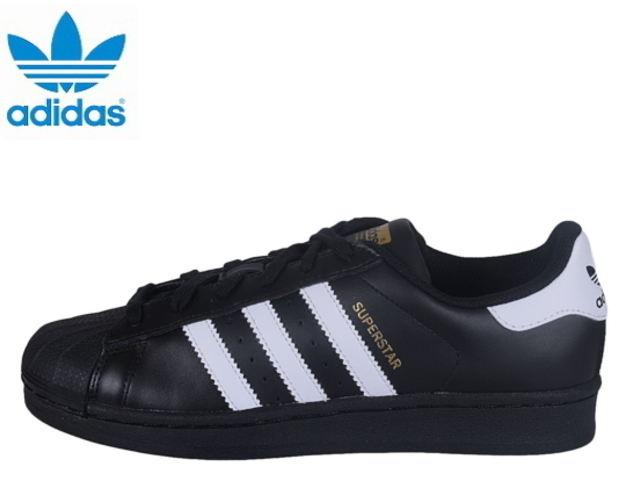 Adidas Superstar Womens black ADIDAS ORIGINALS SUPERSTAR FOUNDATION J  B23642 Black White sneakers sneaker sneaker 3fc3cc7e3
