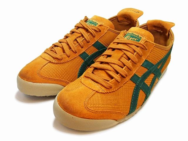 鬼冢虎 墨西哥66 运动鞋 男士 Onitsuka Tiger MEXICO 66 D3V3L.3180  深黄色/深绿色 MUSTARD/DARK GREEN sneaker
