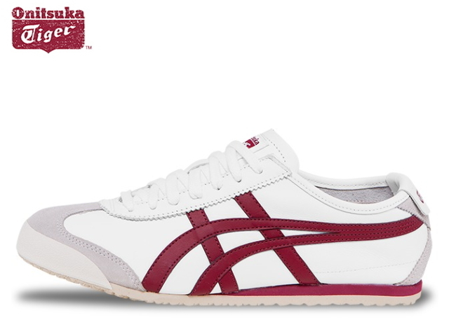 los angeles f4510 51c9d Onitsuka tiger Mexico 66 sneakers men Onitsuka Tiger MEXICO 66 D4J2L. 0125  WHITE/BURGUNDY white / bar Gandhi sneaker