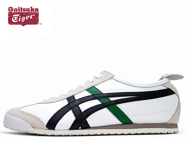 low priced 54143 0f1a8 Onitsuka Tiger Mexico 66 Sneakers Men Onitsuka Tiger MEXICO 66 D4J2L.0182  TROPICAL WHITE / BLACK / GREEN white / black / green sneaker