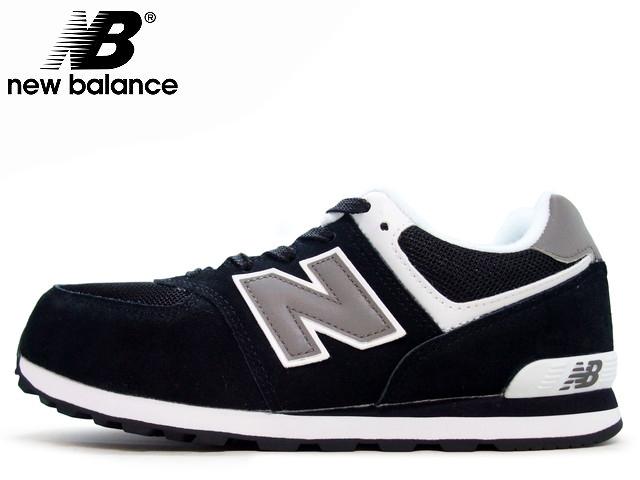 new balance 574 black grey white