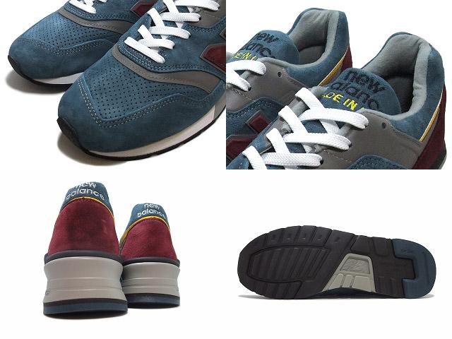designer fashion ee014 56b7d newBalance / new balance m997 dte Blue Burg / Blue / Burgundy