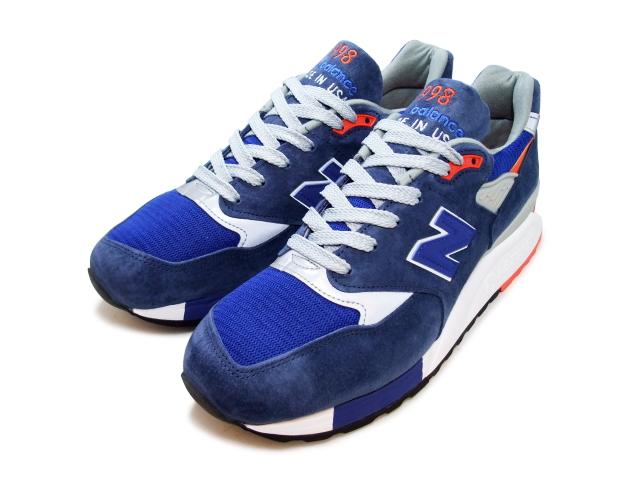 f7766e9f New Balance 998 newbalance men M998 CSAL navy / orange maden in USA men's  sneaker men sneakers