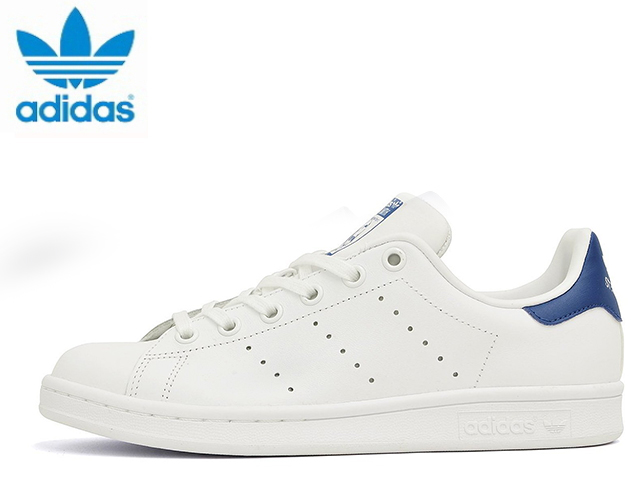 Adidas Stan Smith J white blue Womens sneakers adidas STAN SMITH J S74778 WHITE/BLUE sneakers sneaker