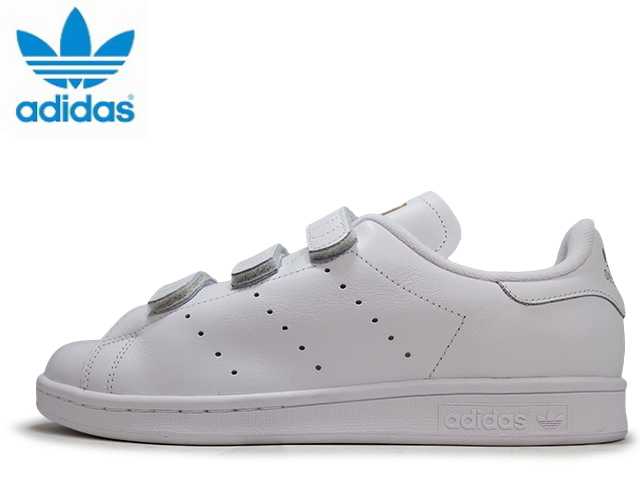 Adidas Stan Smith Velcro comfort ladies mens sneakers adidas STAN SMITH CF  S75188 WHT GOLD sneakers sneaker af362c9ae